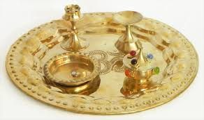 The common items required in performing the ritual are candle, incense sticks, abir, roli thika, chandan, ghee, and others item.