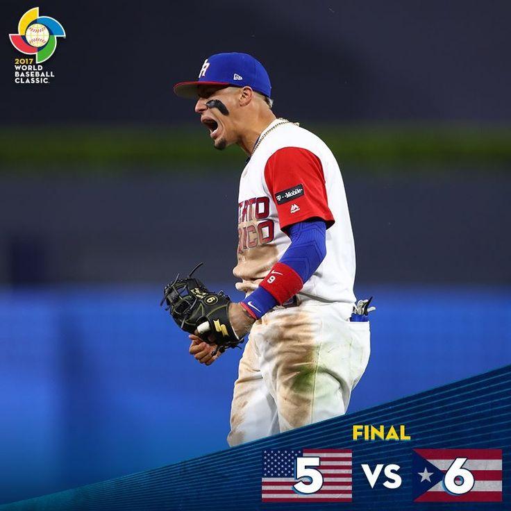 Puerto Rico Defeats Usa 3 18 17 Wbc2017 World Baseball Classic Baseball Chicago Cubs