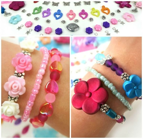 Top 10 kids party ideas - kids bracelet - pink bracelet - kids box- catwalk - pink dress - creative diy for kids - From Beads & Basics