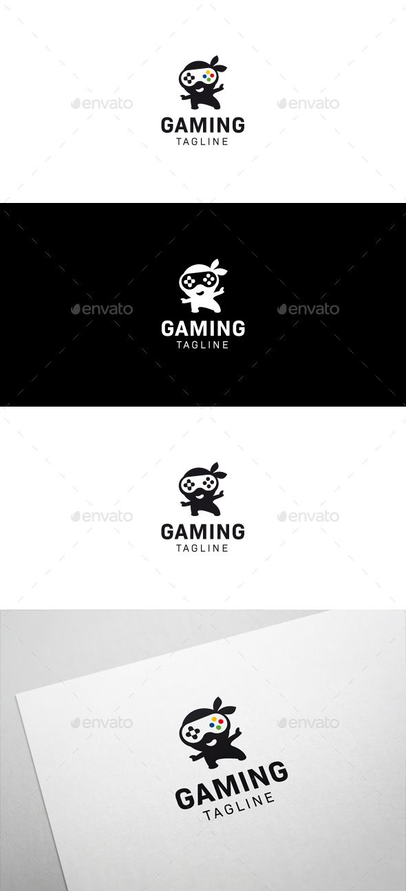 Ninja Games Logo - Humans Logo Templates. Awesome games, fast paced action and stealth, are those somethings your games have in common? Get the logo to go with your ideas! #logo #ninja #game #design
