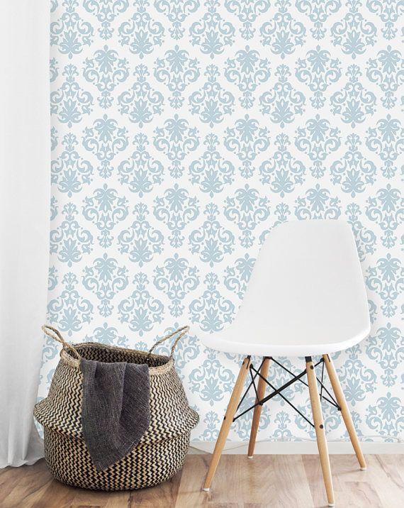 Damask Wallaper Removable Wallpaper Damask Design Damask Blue And White Wallpaper Elegan Removable Wallpaper Blue And White Wallpaper Interior Design Color
