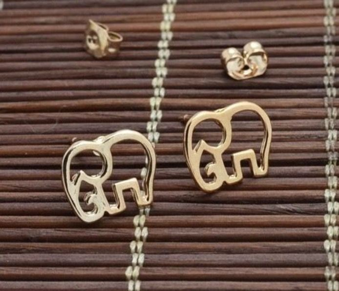 Gold Plated Elephant Stud Earrings #ladies #jewellery #gift #present #cute #gold #goldplated #elephant #studearrings #earrings #animals http://m.ebay.co.uk/itm/Free-Gift-Bag-Gold-Plated-Elephant-Animal-Stud-Earrings-Ladies-Jewellery-Xmas-/282067288925?nav=SELLING_ACTIVE
