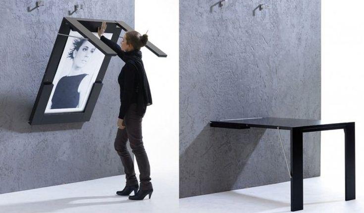 Складной стол в стену