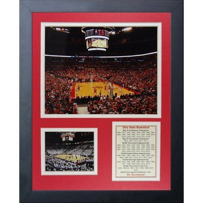 Legends Never Die Ohio State Buckeyes - Basketball Arena Framed Memorabilia