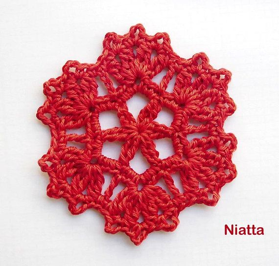 snowflake doily ornament coaster