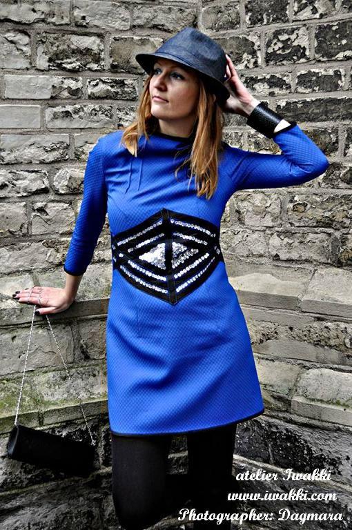 Fashion designer: Iwakki Dress: Cornflower dress atelier Iwakki © www.iwakki.com  My profile on: https://www.facebook.com/pages/Atelier-Iwakki/460889430599552