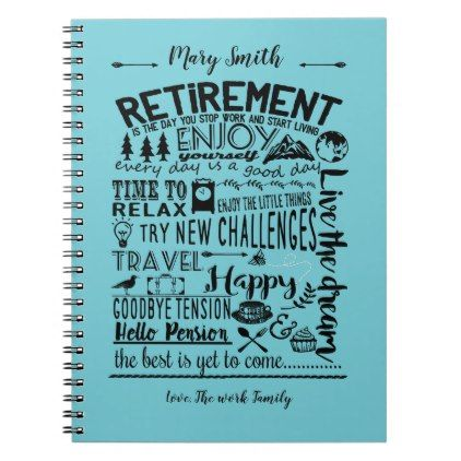 Retirement Book ideal for as retirement gift - anniversary gifts diy cyo party