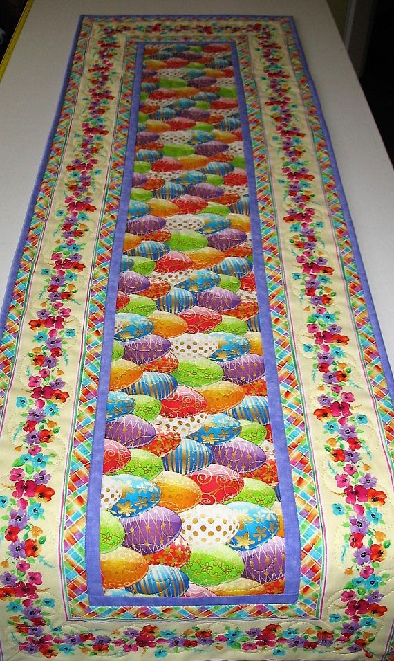 Easter Table Runner EasterEggs Spring Summer handmade