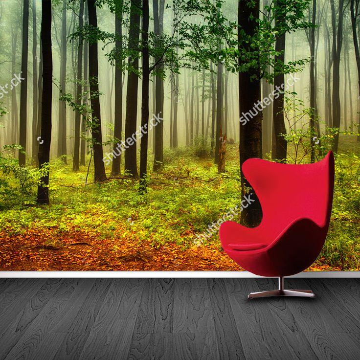 17 beste idee n over bos behang op pinterest bos slaapkamer bos kamer en boom behangpapier - Modern behang voor volwassen kamer ...