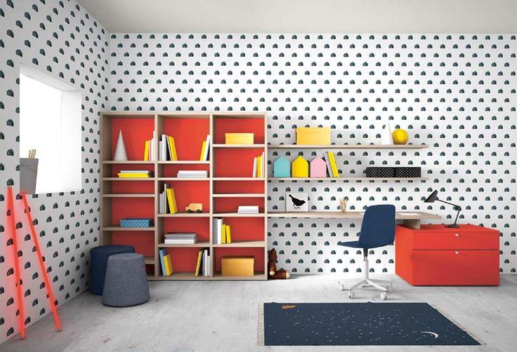 Muebles Pulido Decoracion e interiorismo Madrid  Litera rojo y azul