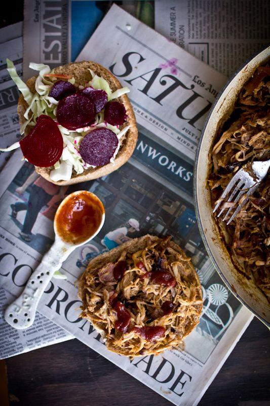 Pulled Pork Sandwiches with Pickled Beets and Cabbage | eye candy ...