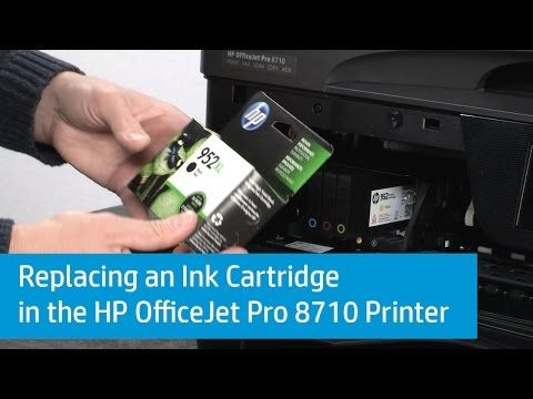 Replacing an Ink Cartridge in the HP OfficeJet Pro 8710 Printer | HP