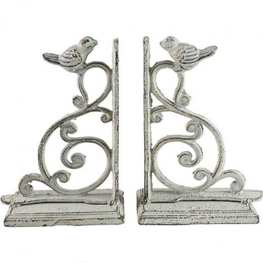 Florence Bookend Pair Antique Grey With Rust