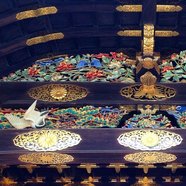 #japan #kyoto #nijo #castle #nijojo #karamon #gate #historical_building #world_heritage #woodwork #phoenix #crane #二条城 #唐門