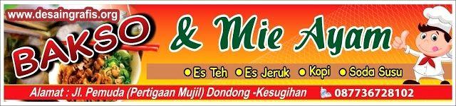 Desain Banner Bakso dan Mie Ayam cdr | Desain banner ...