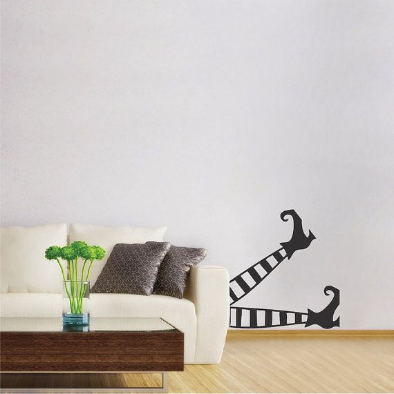 Witch Legs Wall Decal Fun Halloween Witch By TrendyWallDesigns Part 53