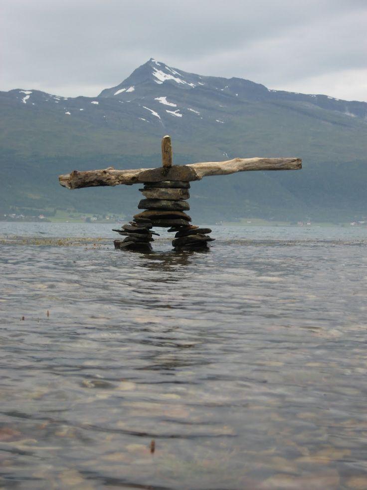 the Tromso Inukshuk