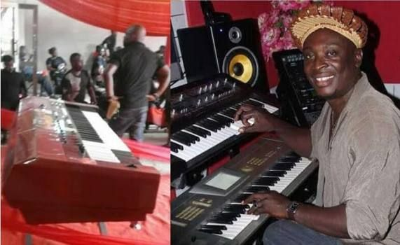 Popular music producer, George Forest buried in a music keyboard casket in Ghana - http://www.thelivefeeds.com/popular-music-producer-george-forest-buried-in-a-music-keyboard-casket-in-ghana/