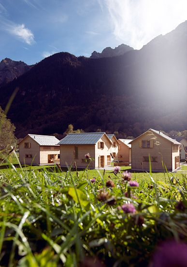 CASALPIN cabins, small holiday village, Austria, Vorarlberg, Brandner valley