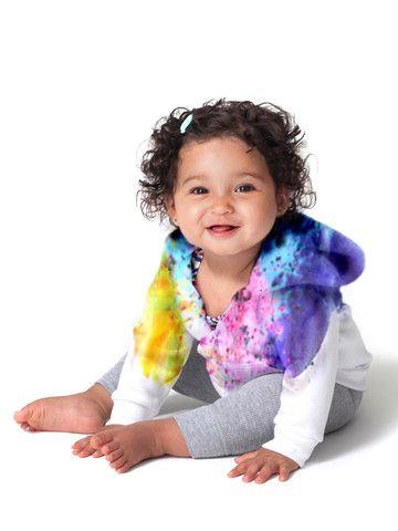 Rainbow Splash Dye Hoodie www.nanokidsco.com