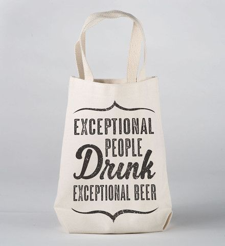 Exceptional People Drink Exceptional Beer Growler Bag | Beer Growler Carrier by NSNP
