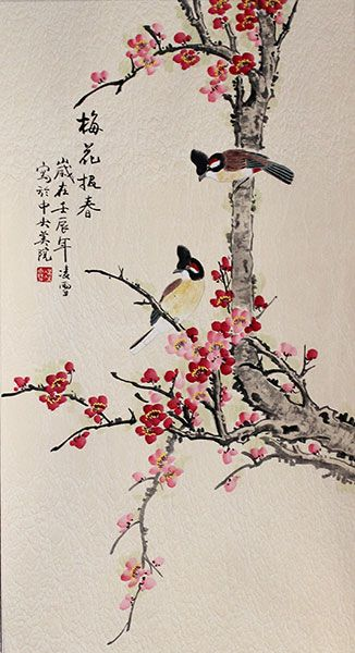 Wall Art Flowers And Birds : Best images about chinese bird paintings on