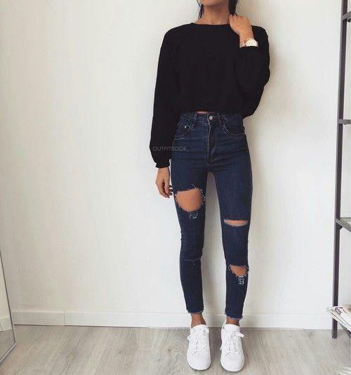 15 Super lässige, aber sehr schöne Outfits, um mit deinem Freund auszugehen – … #LässigesOutfit