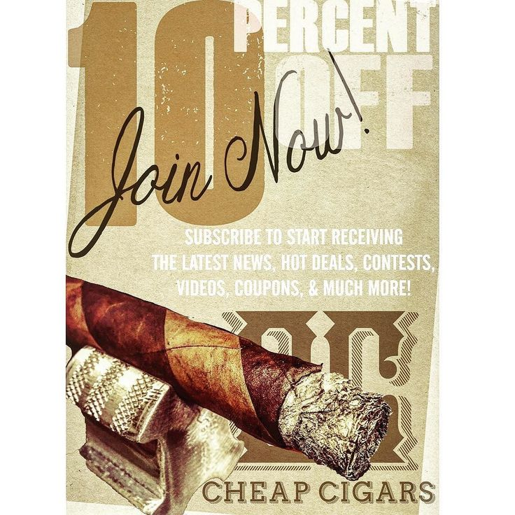"Subscribe to our newsletter and receive plenty of coupons contest and prize opportunities current hot deals news articles ""how to"" videos and so much more! Join us today!  https://www.cheap-cigars.net"