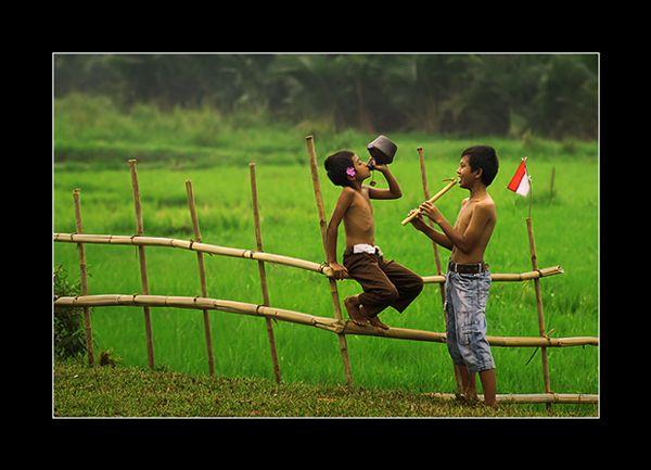indonesia village boys with...: Photo by Photographer Rarindra Prakarsa - photo.net