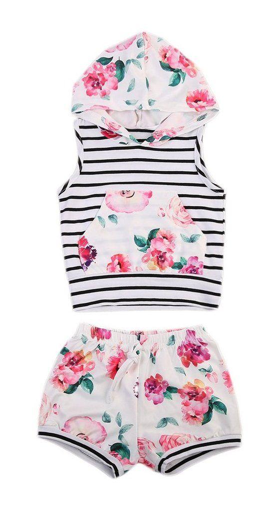 Floral Baby Girl Summer Set