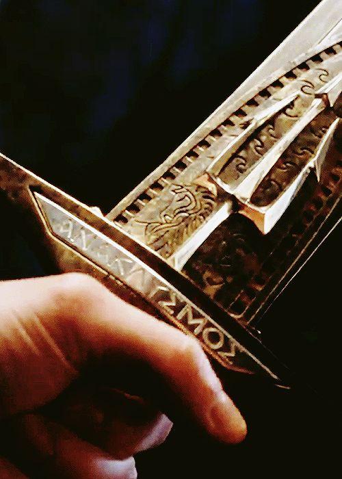 Ανακλυσμός (Riptide) i know we aren't supposed to pin anything from the books/movies but it has a trident on it and it is pretty cool though i think i'll stick with my trident
