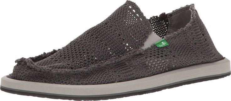 Sanuk Mens Yew-Knit Shoes Footwear, Charcoal, Size 11