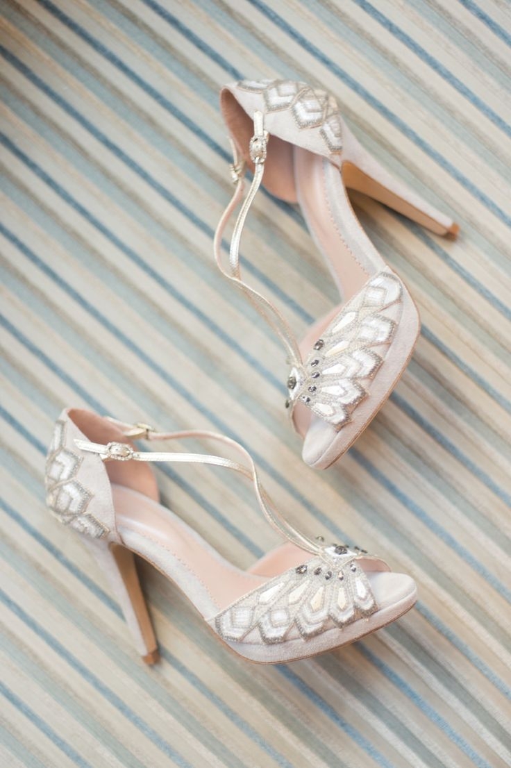 Art Deco inspired embellishes T-Bar sandals from The Cancello Collection by Emmy London   Love My Dress® UK Wedding Blog