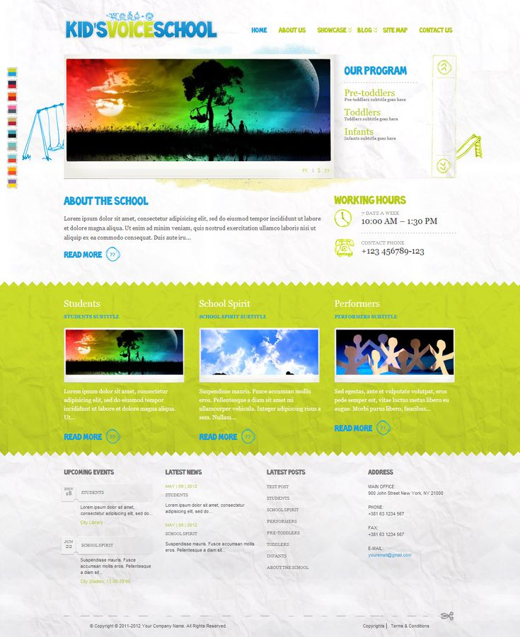 Kid's Voice School  from ThemeForest - a beautiful wordpress theme.