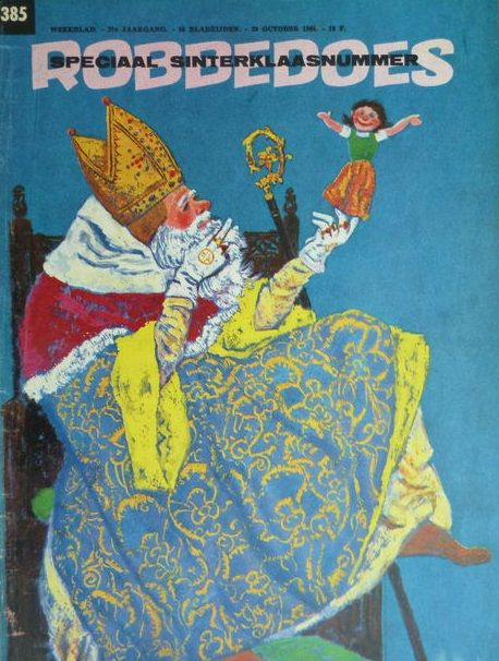 Sinterklaas op de cover van Robbedoes