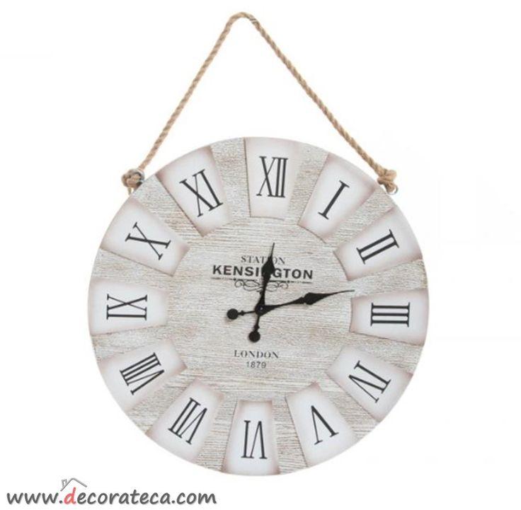 Relojes de madera de pared grandes con cuerda kensington - Relojes pared grandes ...