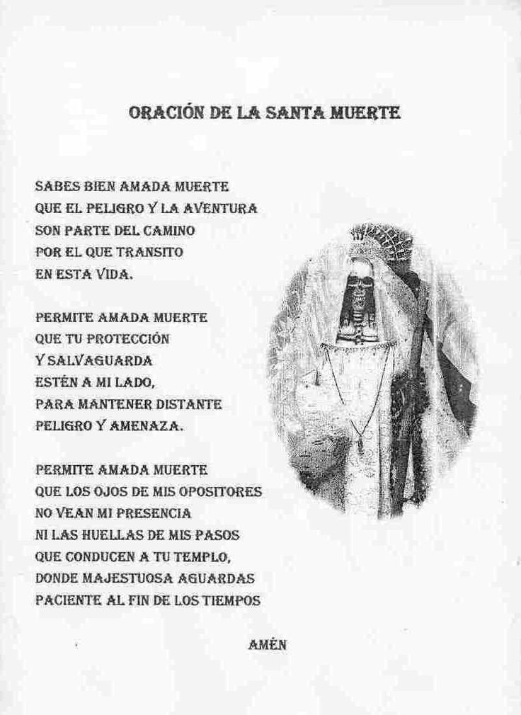 Santa Muerte En Puebla Santa Muerte Prayer Santa Muerte Grim Reaper Art