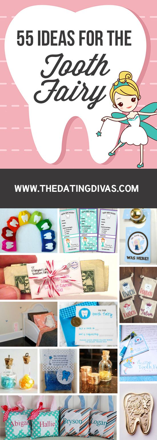 55 Ideas for the Tooth Fairy with creative ideas for fun traditions to start with the first tooth and cute notes!