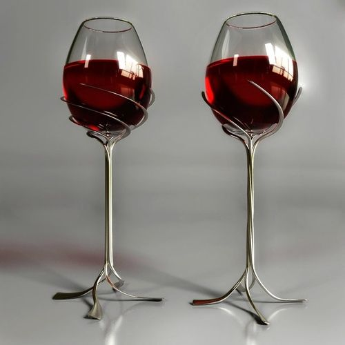 Humorous Structural Glass : Awesome wine glasses and dine me pinterest