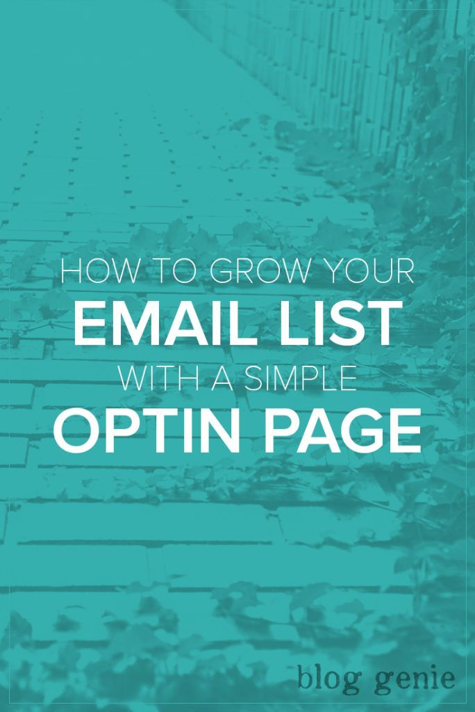 how to create email list for marketing