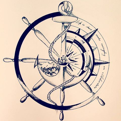 Tatto Ideas & Trends 2017 - DISCOVER Image result for sailor compass anchor tattoos Discovred by : Fanny Riou