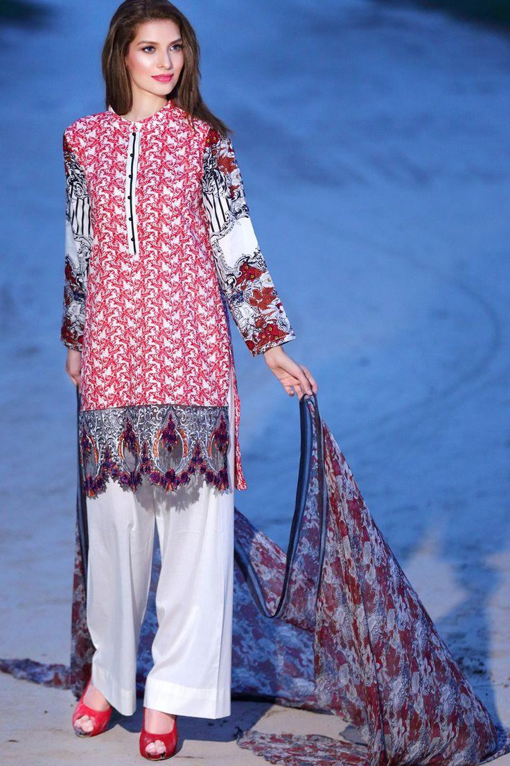 Bareeze live dresses gallery bareeze fashion brand photos designs - Strawberry Ice Color Sana Samia Dress