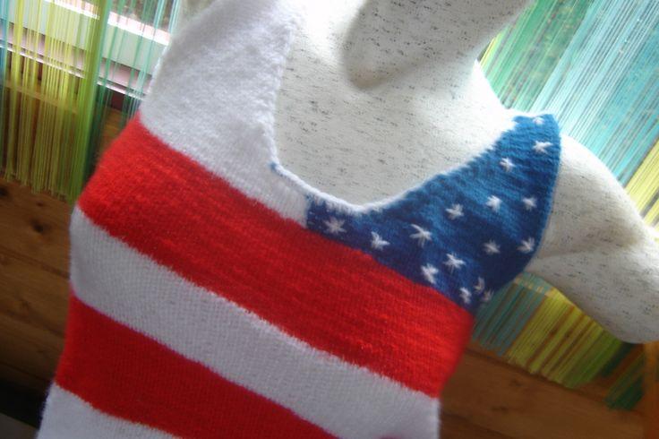 Top, drapeau américain débardeur court et ajouré dans le dos : T-Shirt…
