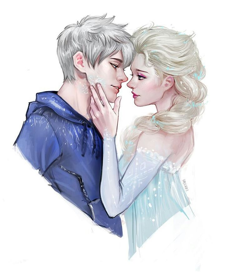 Elsa and Jack Frost I cant. I just really cant. sooo in love with the thought of them being in love.