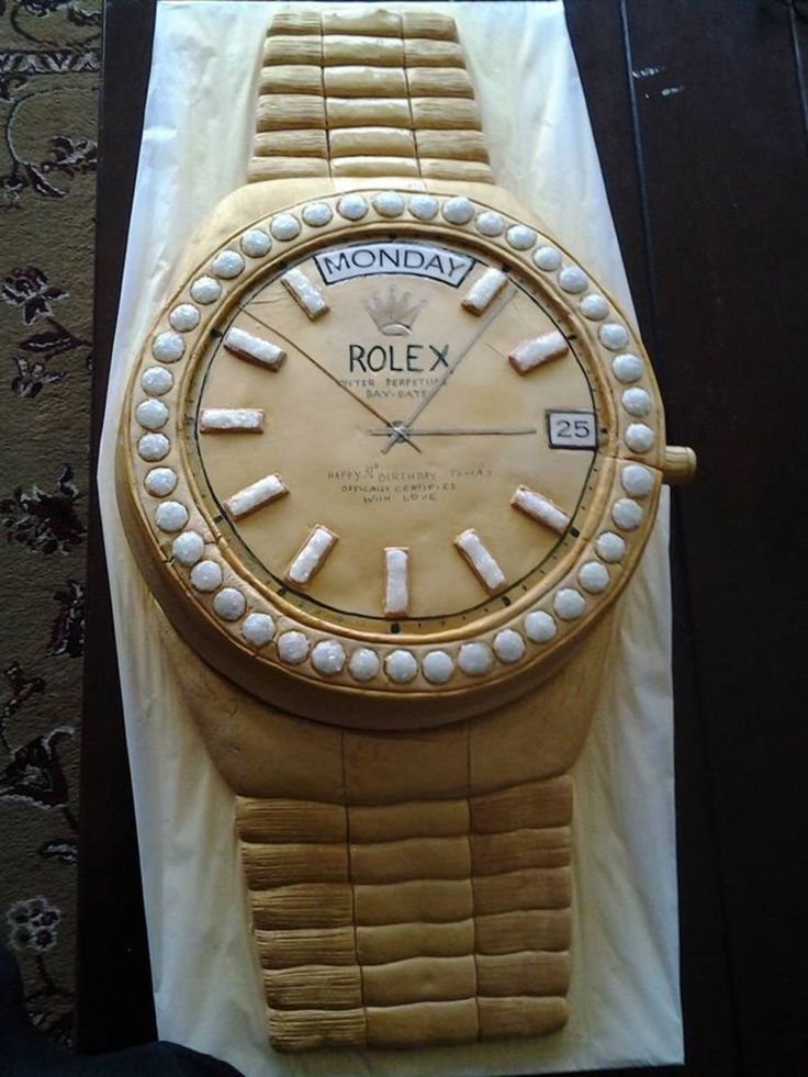 Mens Gold Rolex Watch Cake For Father S Day Retirement