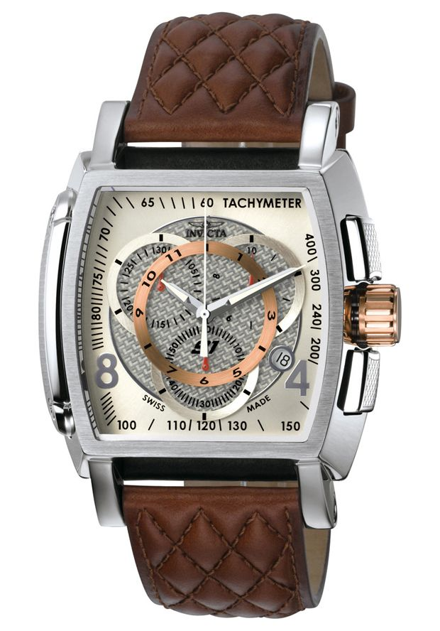 Invicta Men's S1 Chronograph Brown Leather - Watch 5402, #Invicta, #5402, #WatchesChronographQuartz
