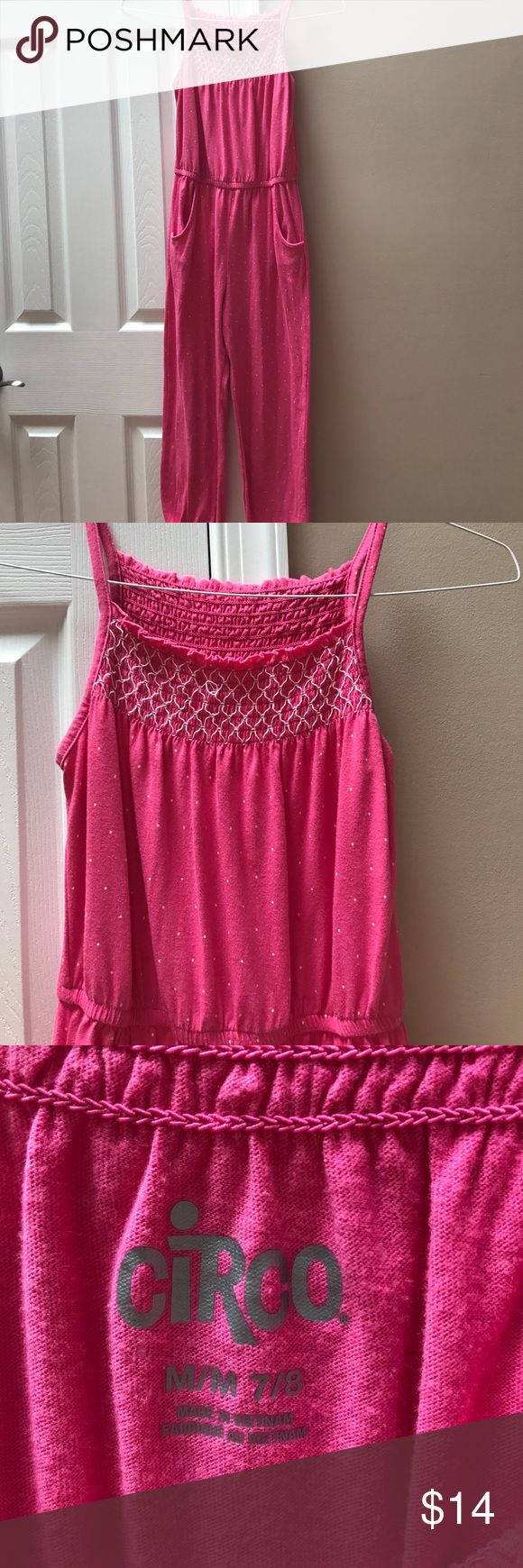 Girls jumpsuit 7/8 Girls Circo 7/8 jumpsuit. Pink with white dots. Circo Other