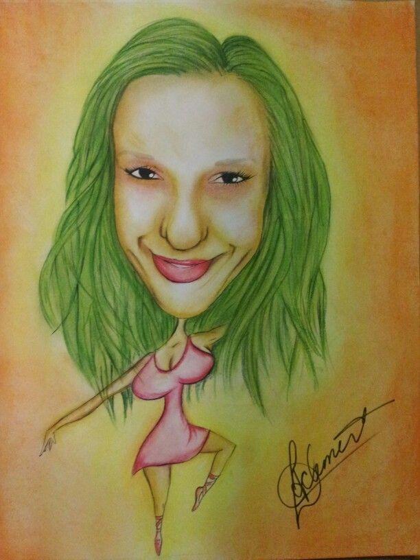 Dancing girl caricature