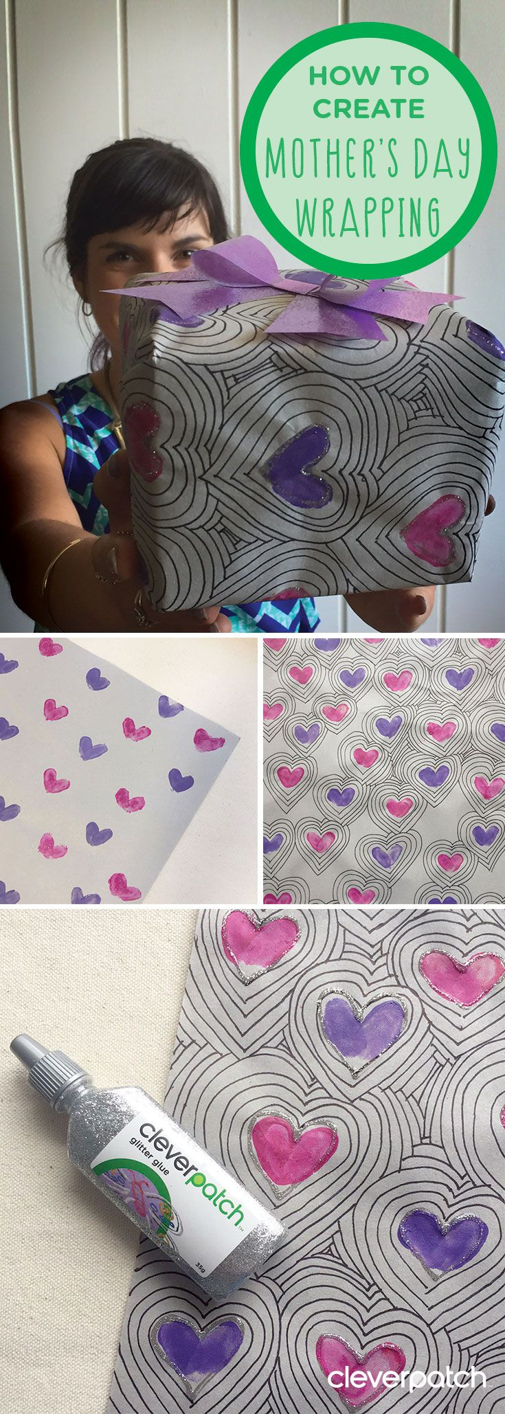 DIY Mother's Day wrapping paper