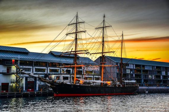 Digital photography of The First Fleet.  This was taken while travelling around Darling Harbour.  Instant Download Printable Images. Create